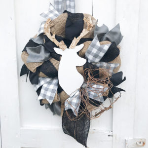 deer_theme_baby_wreath_Gray_black