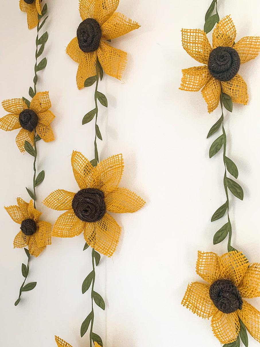 Sunflower Garland Wall Decor Nursery Baby Shower