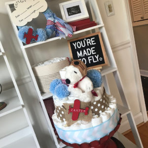 snoopy_dipaer_cake_baby_shower