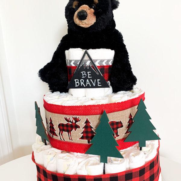 mountain_bear_diaper_cake