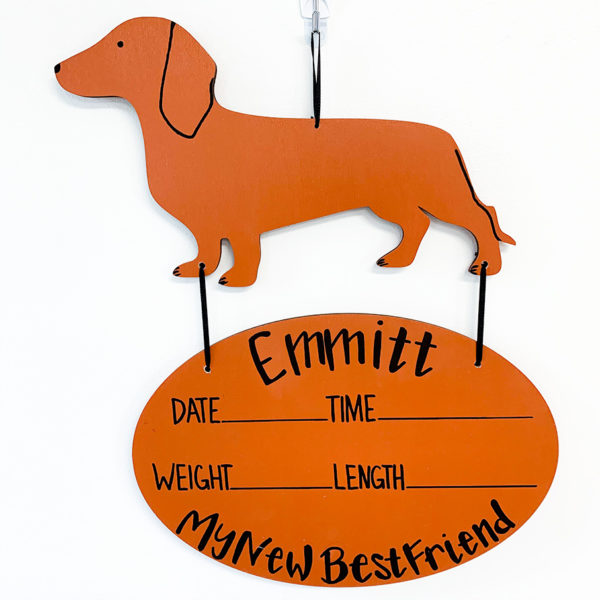 Dachshund_baby_name_sign
