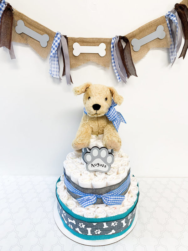 dog_themed_diaper_cake_banner_boy