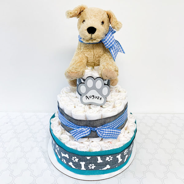 personalized_diaper_cake_with_puppy